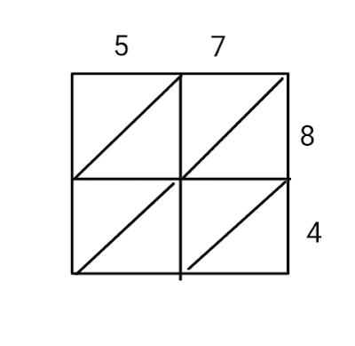 second step for lattice multiplication