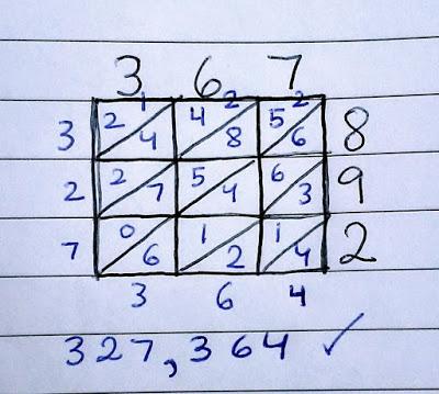 lattice multiplication 3 digit example