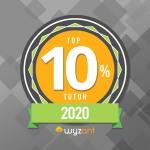 wyzant top ten tutor badge